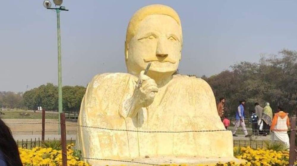 Offensive' Sculpture of Allama Iqbal