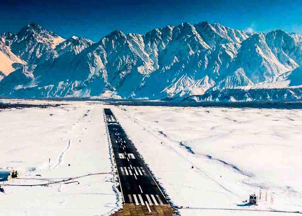 International flight operations at Skardu Airport