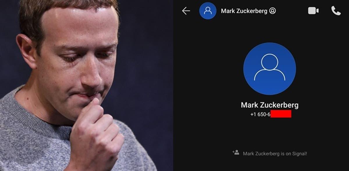 Mark Zuckerberg using Signal App